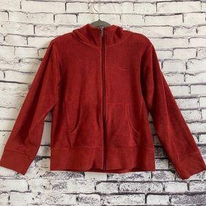 Patagonia Women's Dark Orange Fleece Zip-up Hoodie